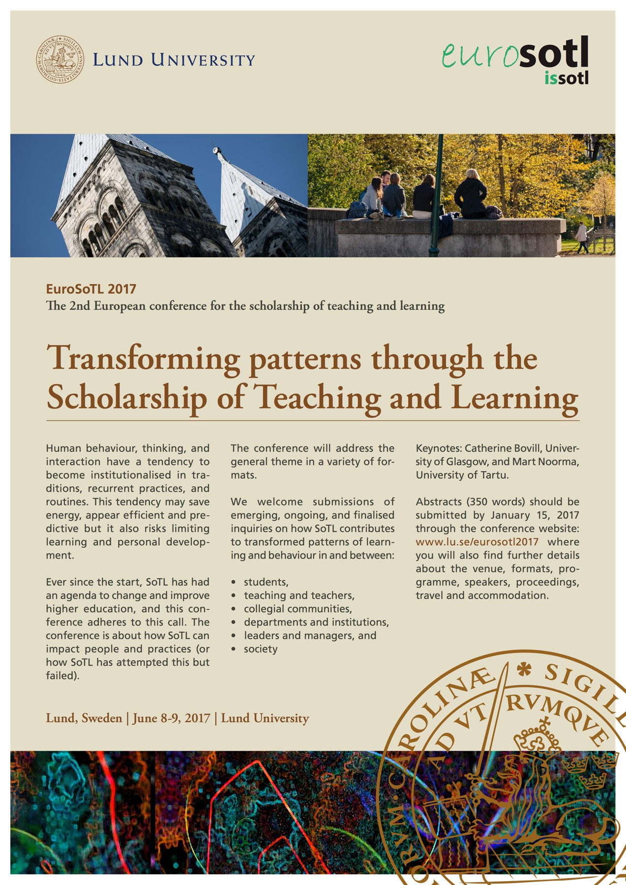 EuroSoTL 2017: Transforming patterns through the Scholarship of